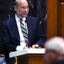 Indiana Speaker of the House Brian Bosma, R-Indianapolis, brings the body to order on opening day of the 2015 General Assembly at the Statehouse in Indianapolis on Tuesday, Jan. 6, 2015.