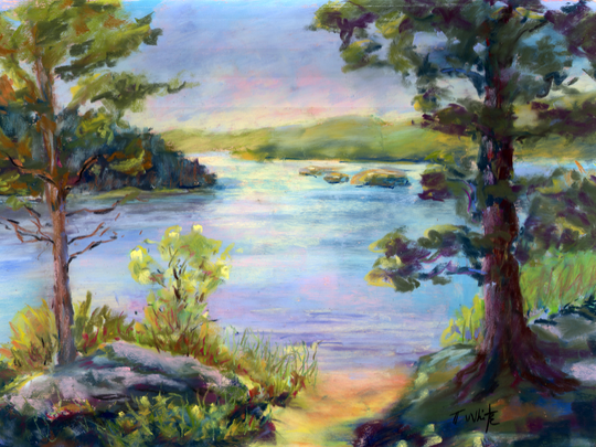 """Catskills Lakeside"" by Tina White."