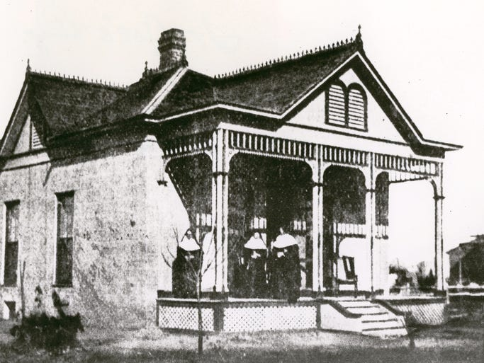THEN: In 1982 a group called the Sisters of Mercy arrived in Phoenix to open a school. One thing they discovered was the need to treat tuberculosis patients. They began fund raising and rented a home at Fourth and Polk streets in downtown Phoenix in 1895 which evolved into the first St. Josephs Hospital.