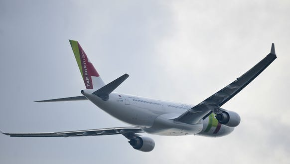 A TAP Air Portugal Airbus A330 takes off from the Lisbon
