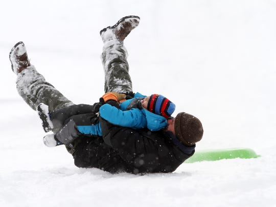 Craig Scheicher of Jamesburg may have lost his sled,