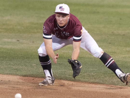 Mt. Whitney's Jake Ruby leads the Pioneers with two home runs this season.