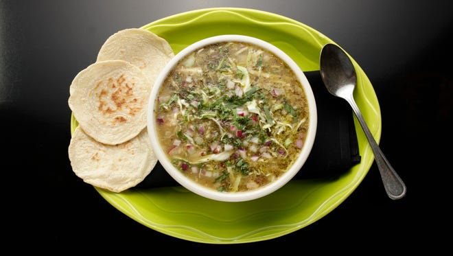 Posole, as made by Jeff Cohen of Barrio Queen as seen in Scottsdale on Dec. 29, 2014.