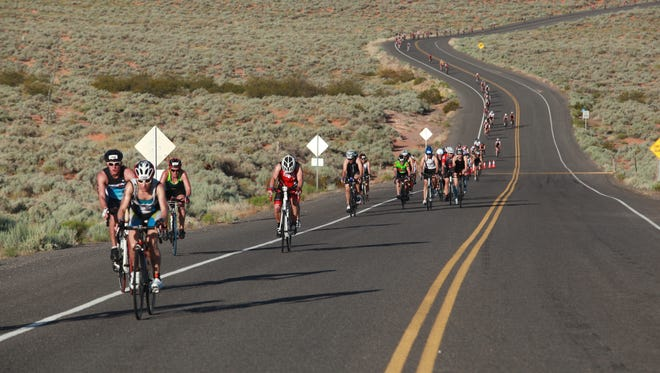 Roadways will have some detours and delays because of the biking and running portions of the 2015 competition Ironman 70.3 St. George race. The 2014 St. George Ironman took place on Saturday, May 3, 2014.