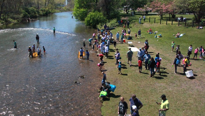 Kids from as far away as Richmond converged on the South River for fun and science at Riverfest in Waynesboro.