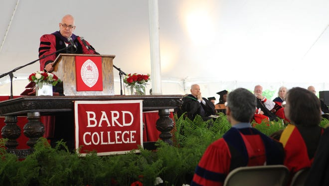 Bard College President Leon Botstein speaks during the 2015 Bard College commencement ceremony.