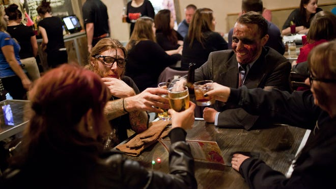 The Peekskill Zombie Pub Crawl kicks off at 5 p.m. Halloween.