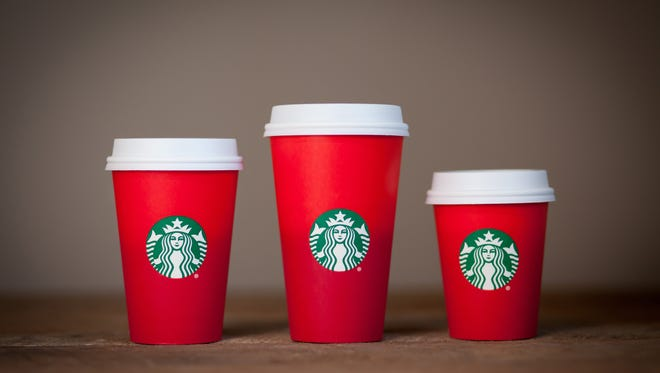 Starbucks and its design vice-president released a statement saying the idea behind the new red holiday cups was to present a clean design that allowed customers to envision their own holiday experiences on the cups.