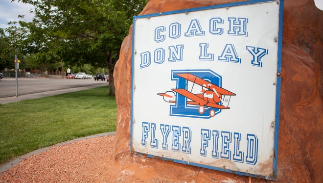 Don Lay field at Dixie High School Wednesday, May 13, 2015.