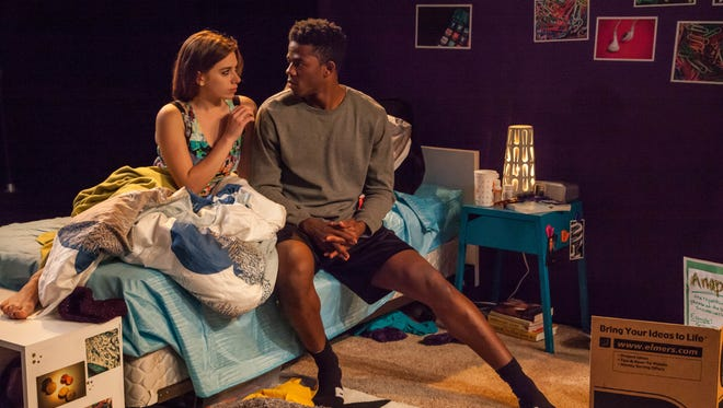"""Anna Stefanic as Caroline and Ian Duff as Anthony star in """"I and You"""" at the Kitchen Theatre."""