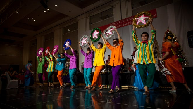 Members of the Bayanihan dance company from the Philippines performed a variety of Filipino dance styles representing the different cultural influences that the country has embraced over the centuries.