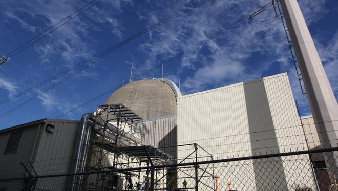 A view of the Indian Point nuclear power plant in Buchanan, seen during a Jan. 27 tour.