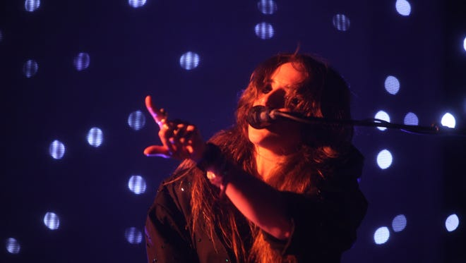 Beach House perform on the Outdoor Stage on Sunday during the 2016 Coachella Valley Music and Arts Festival on Weekend 1 in Indio, California.