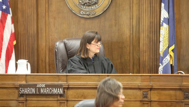 Fourth Judicial District Court Judge Sharon Marchman filed a suit against other judges on Tuesday.