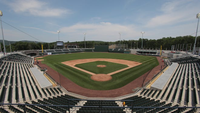 Provident Bank Park in June 2011, the day before the stadium's inaugural Rockland Boulders game.