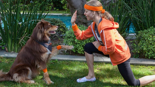 Seyfried was introduced to her dog by a production coordinator on the set of 'Big Love.'