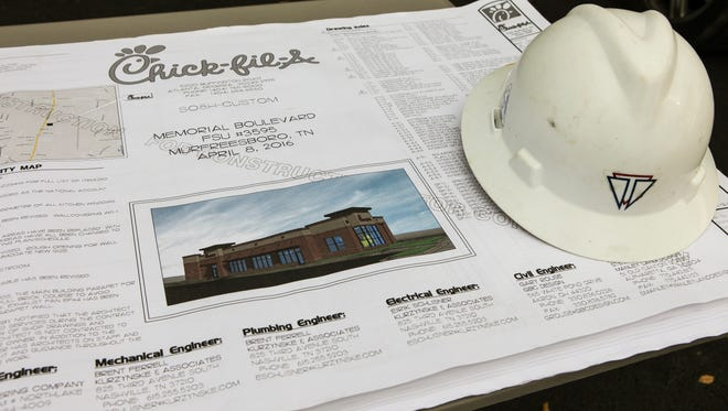 Chick-fil-A broke ground on its new restaurant with the Chamber of Commerce on Oct. 14, 2016, at 2104 Memorial Blvd. in Murfreesboro.