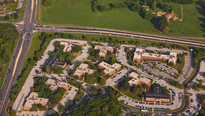 Barley Mill Plaza near Greenville is shown in September 2013. The property was sold this month to Pettinaro, which plans to redevelop the former DuPont Co. site. A previous development plan sparked a wave of community opposition and a lengthy legal battle.