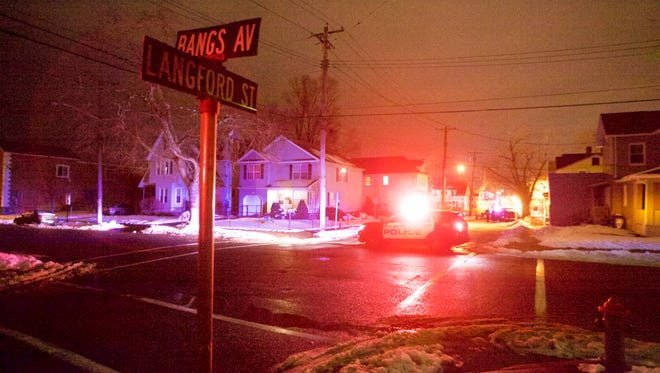 Asbury Park police closed a block of Langford Street in response to a gas leak.