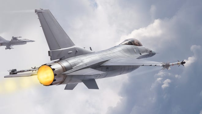 F-16 Fighting Falcon military jets