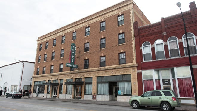 This is a file photo of the Missouri Hotel, formerly a homeless shelter. The Kitchen, Inc., has sold the building along with other buildings on Commercial Street.