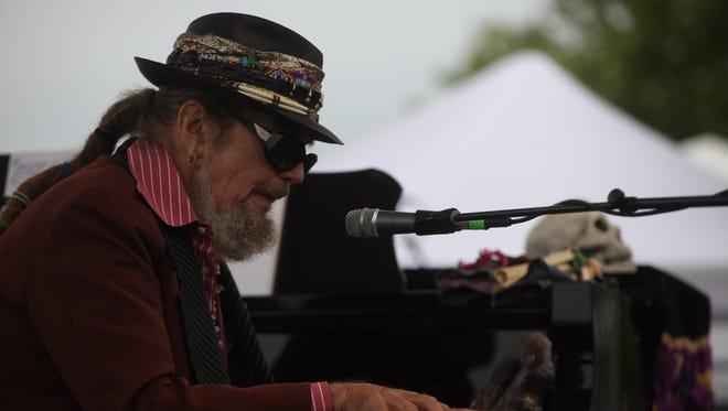 Dr. John performs at Wilmington's Tubman-Garrett Park on Saturday.