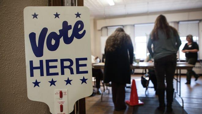 Voting in Shelburne, Mass.