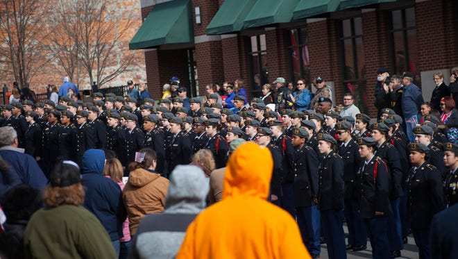 Clarksville held its annual Veteran's Day Parade downtown on Saturday.