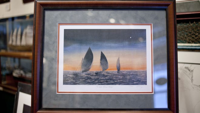 """Jim Clary will give a color print of his painting """"I Saw Three Ships"""" or of one of two other prints to those who donate $20 or more to St. Joseph's Academy Children's Choir"""