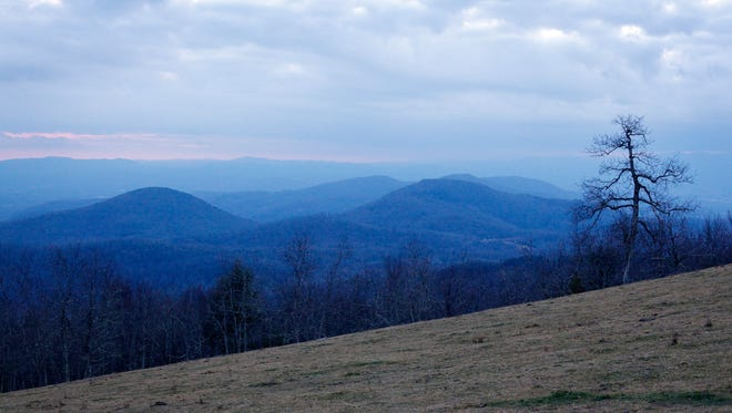 The view from the pasture at the summit of Bearwallow Mountain December 1, 2017. The iconic summit on the Henderson-Buncombe county border has been permanently protected as conservation land.