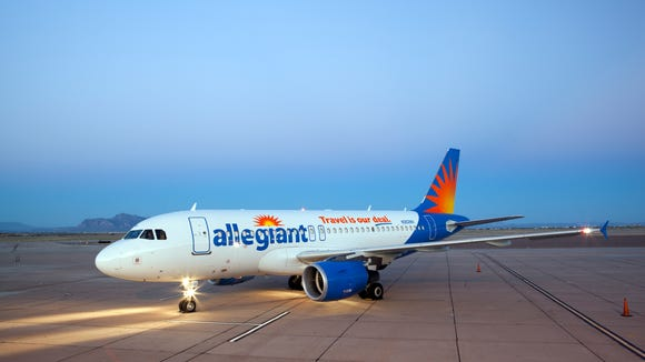 This undated file photo shows an Allegiant Airbus A319 aircraft.