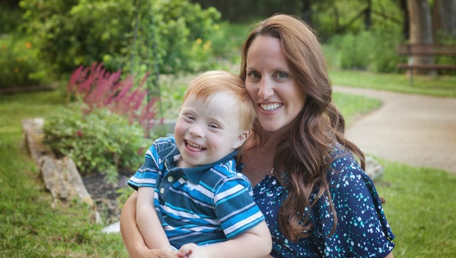 Jen Jacob and her son Owen.