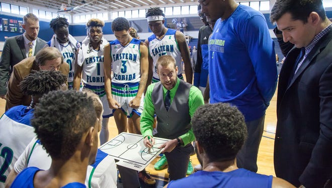 Jeremy Shulman earned his 200th victory as men's head basketball coach at Eastern Florida State College.