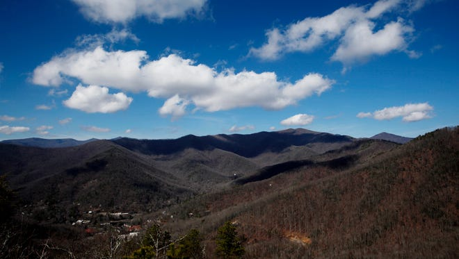 A view from Lookout Trail in Montreat February 20, 2018, as temperatures reached the upper 60's.