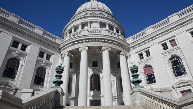 Hundreds of students are to march on the state Capitol about noon Wednesday to demand laws to control gun violence and to increase school safety.