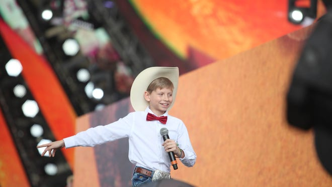 "Mason Ramsey, aka ""Yodel Kid,"" performed with Whethan in the Sahara tent at Coachella."