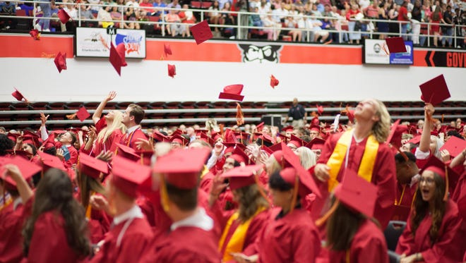 Rossview High School held their graduation ceremony at Austin Peay State University's Dunn Center on Thursday.