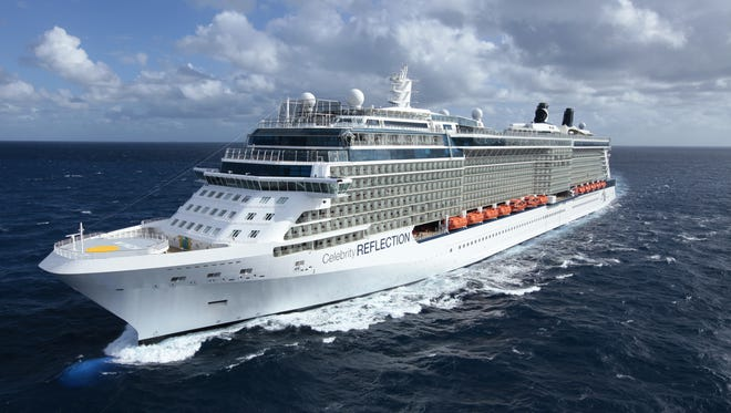 Celebrity currently has 11 ships, the most recent of which is Celebrity Reflection, pictured here.  At 117,000 gross tons the two new ships will be about 7% smaller than Reflection, which can carry 3,030 passengers.