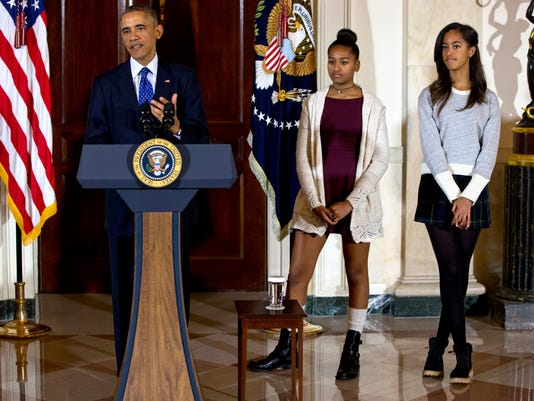 Barack Obama, Malia Obama, Sasha Obama