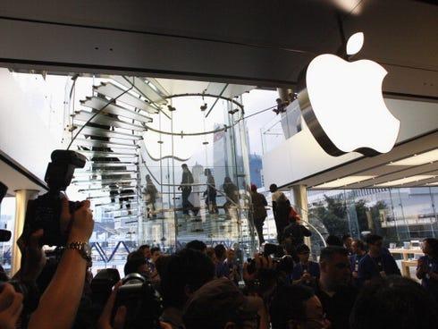 An Apple store in Hong Kong.