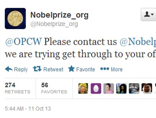 Twitter Nobel 1
