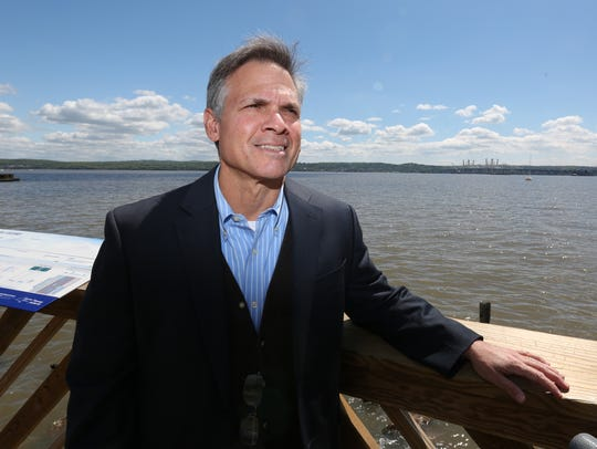 Tom Zambito at the Tappan Zee Bridge viewing station