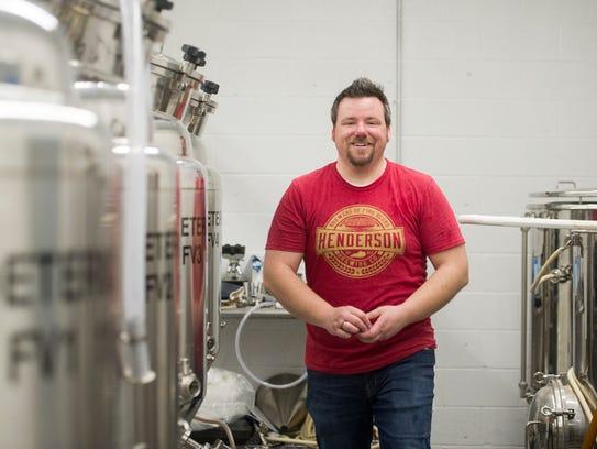 Henderson Brewing Company's head brewer Doug Laramie