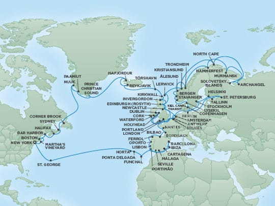 A voyage of Regent's Seven Seas Navigator in 2018 will