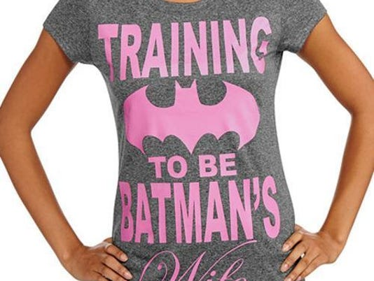 sexist batman shirt walmart