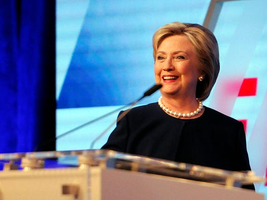 Democratic presidential candidate Hillary Clinton has