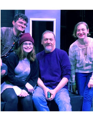 """Cumberland County College's Department of Theatre's production of """"Proof"""" features (from left) Ian Volz-Price of Pitman as Hal, Britney Jones of Greenwich as Catherine, Richard Mooney of Salem as Robert and Kit Chesebro of Millville as Claire."""