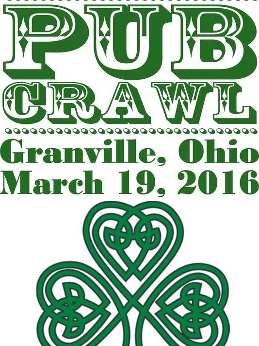 2016 STP PUB CRAWL TEE SHIRT FRONT