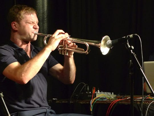 Peter Evans, trumpet, and Sam Pluta, electronics, explore