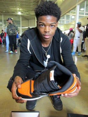 Patrick Dandridge, 15, was at Sneakfest.